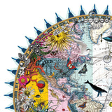 Circular Paul Smith world map print by artist Kristjana S Williams
