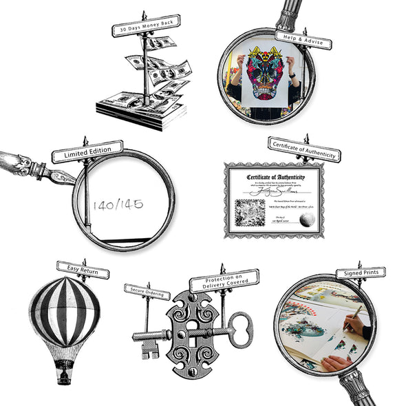 Black Skeletons - Art Print Collection - Kristjana S Williams Studio