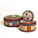 Red Parrott Tapestry Pouffe
