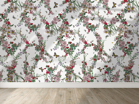 Klifur Bloom Wall Mural - White - Kristjana S Williams Studio