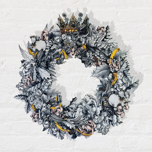 Christmas Wreath 2019 - Winter White - Kristjana S Williams Studio