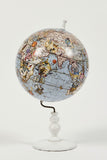 Wold Map Globe Pale Blue - Small - Kristjana S Williams Studio