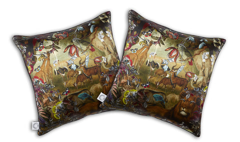 Lion by Numbers Cushion silk
