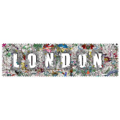 London Heart Letur - Art Print - Kristjana S Williams Studio