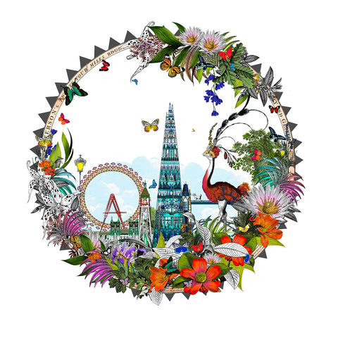 Circular London print by Icelandic artist Kristjana S Williams
