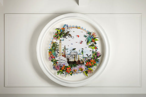 Original circular artwork by artist Kristjana S Williams photographed by Simon Maxwell