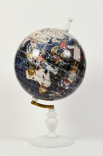 World Map Globe Navy - Large - Kristjana S Williams Studio