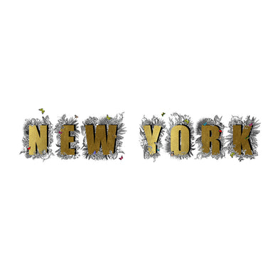 New York Letur Gold - Art Print - Kristjana S Williams Studio
