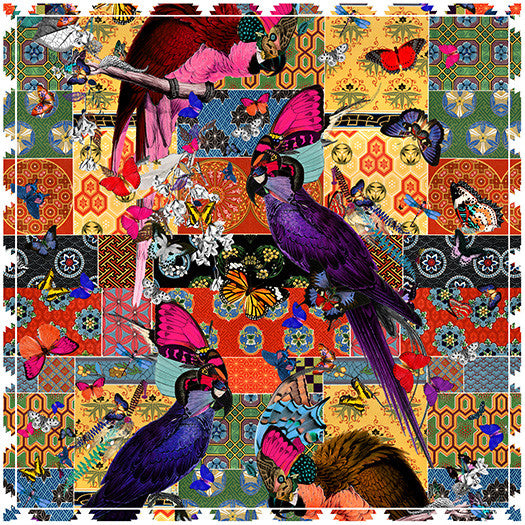 Red Parrot Tapestry Scarf