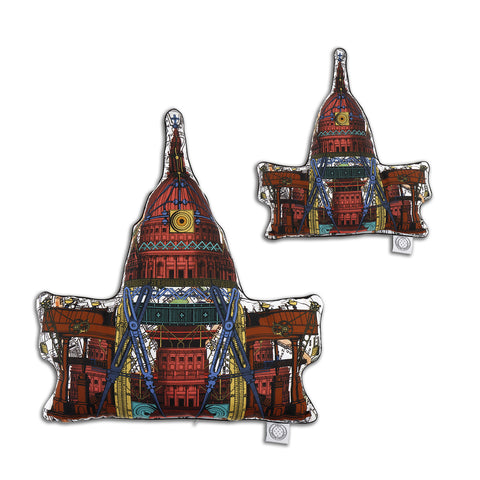 St. Paul's Cathedral - Shaped Cushion - Kristjana S Williams Studio