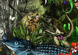 The Amazon Rain Forest - Beware of the Black Caiman - Art Print - Kristjana S Williams Studio