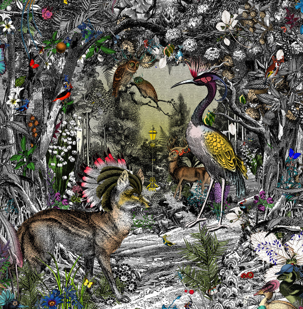 The Menagerie at Penhaligon's Central - Art Print - Kristjana S Williams Studio