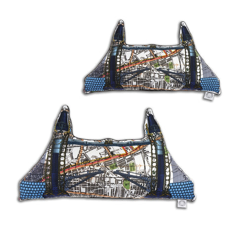 Tower Bridge - Shaped Cushion - Kristjana S Williams Studio