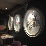 Circular Original Trilogy of artworks by artist Kristjana S Williams for Trinity restaurant London