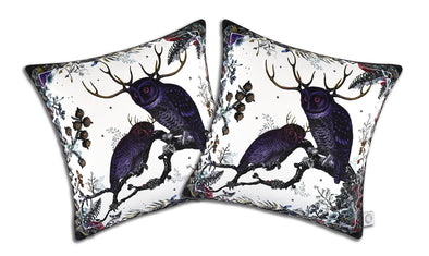 Twin Owl Cushion - Kristjana S Williams Studio