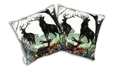 Twin Stag Cushion - Kristjana S Williams Studio