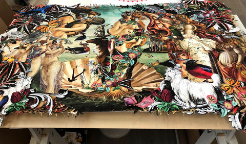 Modern take on a classic Botticelli, by artist Kristjana S Williams