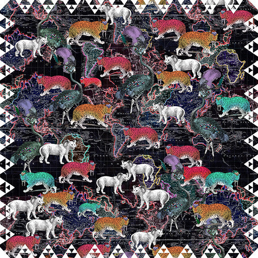 World Map Animal Scarf