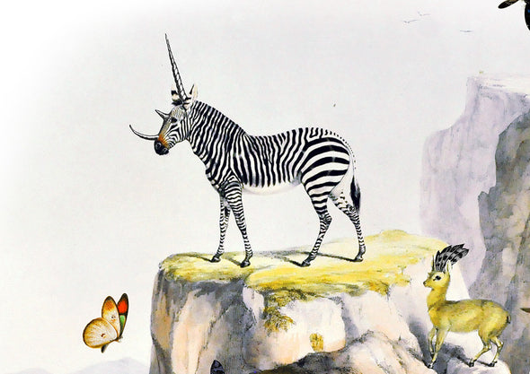 Zebra Gardur - Art Print - Kristjana S Williams Studio