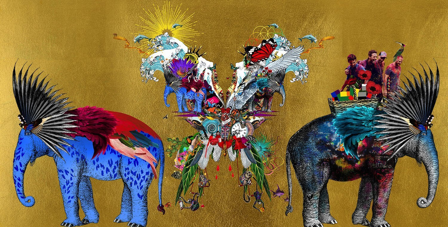 Cover artwork for Coldplay by artist Kristjana S Williams A head full of dreams Live