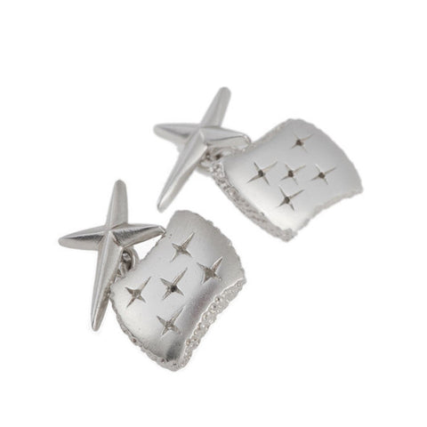 Trinity Silver Cross Back Cufflinks