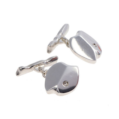 Carved Silver Cufflinks