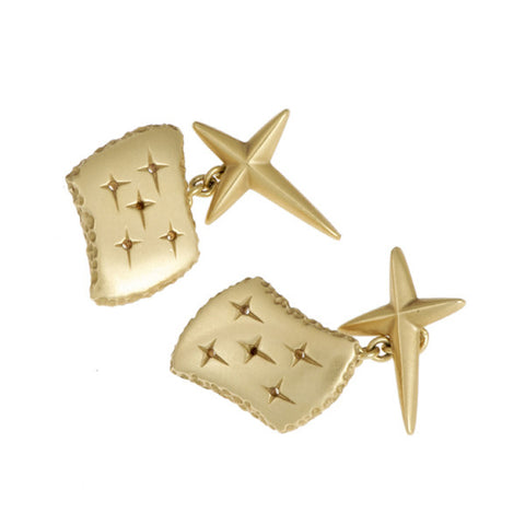 Trinity 18ct Yellow Gold Cross Back Cufflinks
