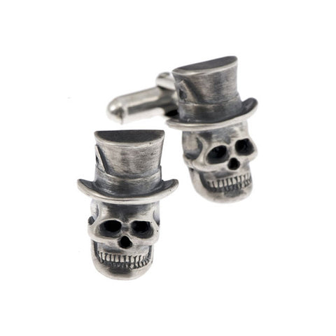 Skull In A Top Hat Cufflinks