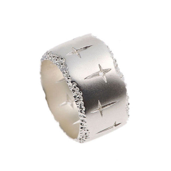 Trinity Silver Wide Ring