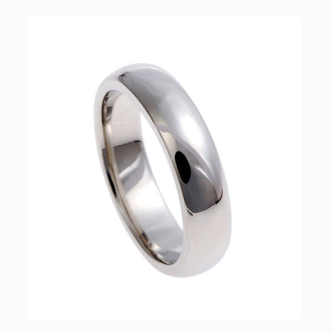 Blue Platinum 'D' Shaped Band Ring