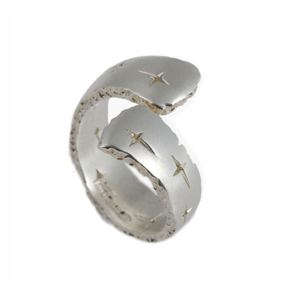 Trinity Silver Cross-Over Ring