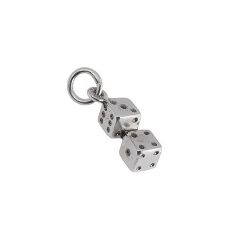 Silver Dice Tattoo Pendant