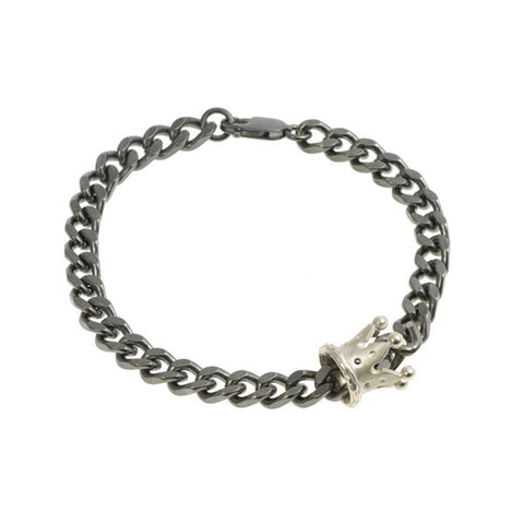 Kings And Queens Silver Crown Bracelet