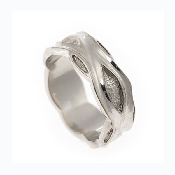 Libertine Medium 9ct White Gold Band Ring