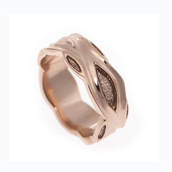 Libertine Medium 9ct Rose Gold Band Ring