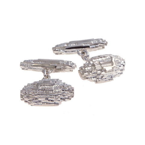 Luna Silver All Rough Cufflinks