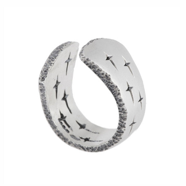 Trinity Silver Open Top Ring