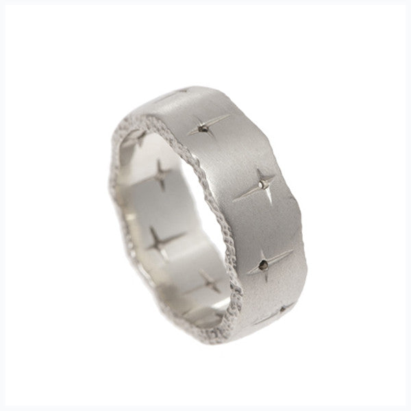 Trinity 9ct White Gold Band Ring