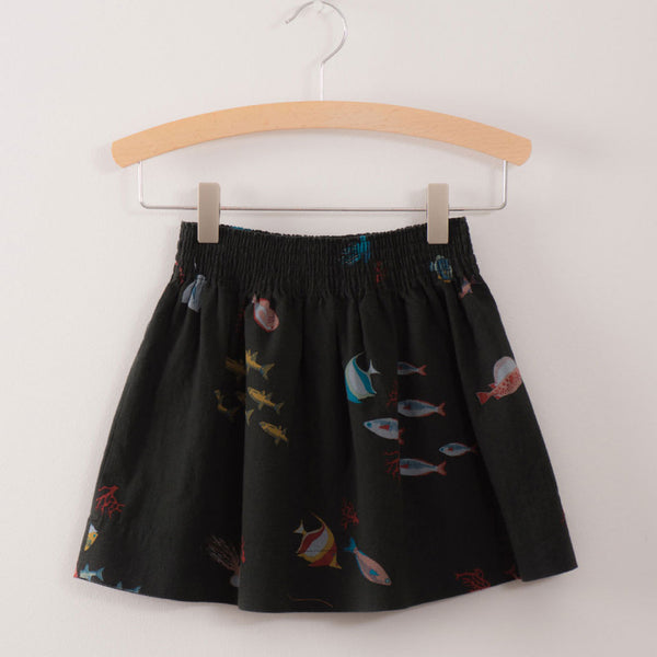 Deep Sea Flared Skirt