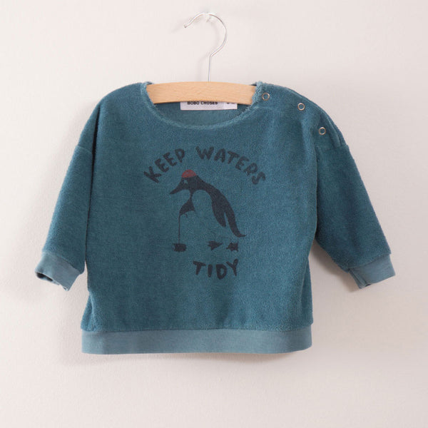 Baby Sweatshirt Keep Waters Tidy