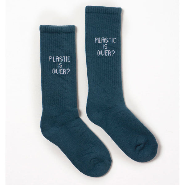 Plastic is Over? Short Socks, Blue