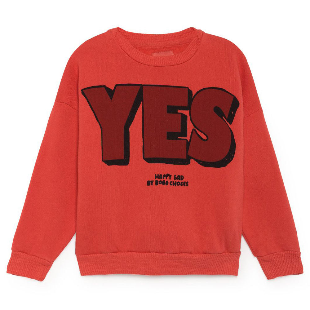 Yes No Round Neck Sweatshirt