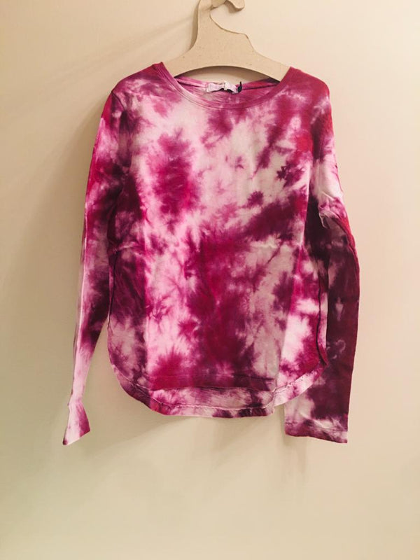 IRIS LONG SLEEVE T-SHIRT-TIE DYE