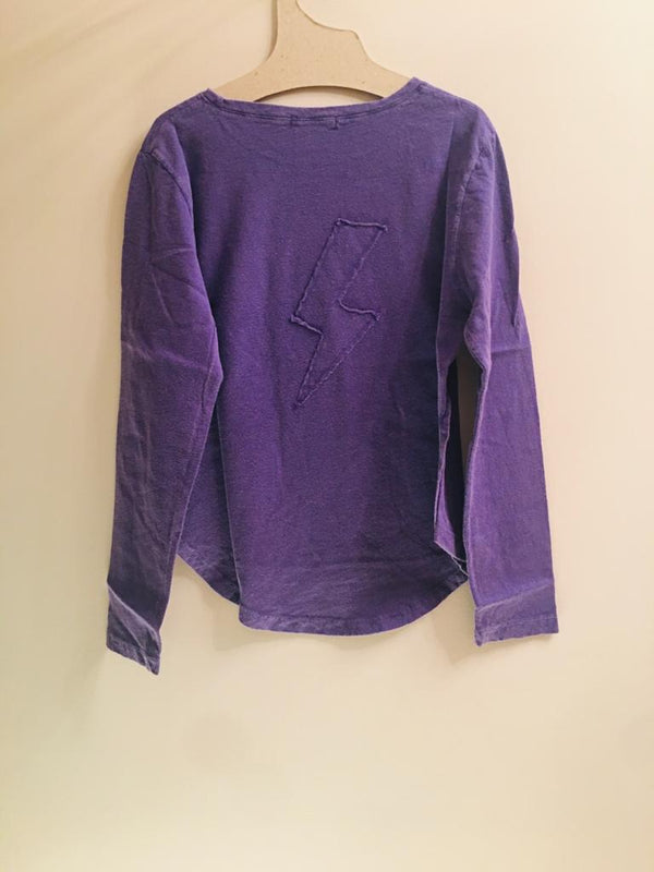 IRIS LONG SLEEVE T-SHIRT-PURPLE