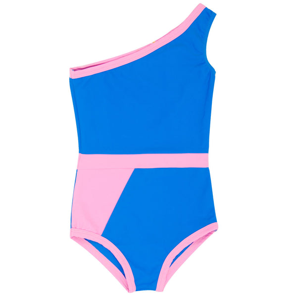 Graphic Swimsuit, Light Blue