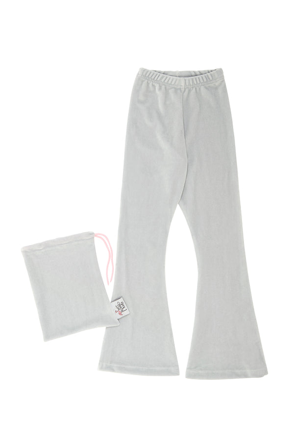 Grey Velvet Bell Bottoms
