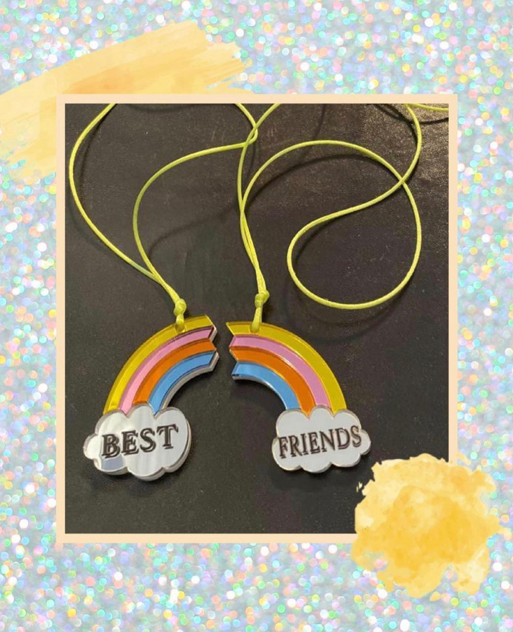 Plexiglass-Best Friend Necklaces
