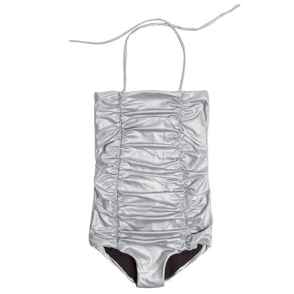 Baby Vintage Bathing Suit, Silver