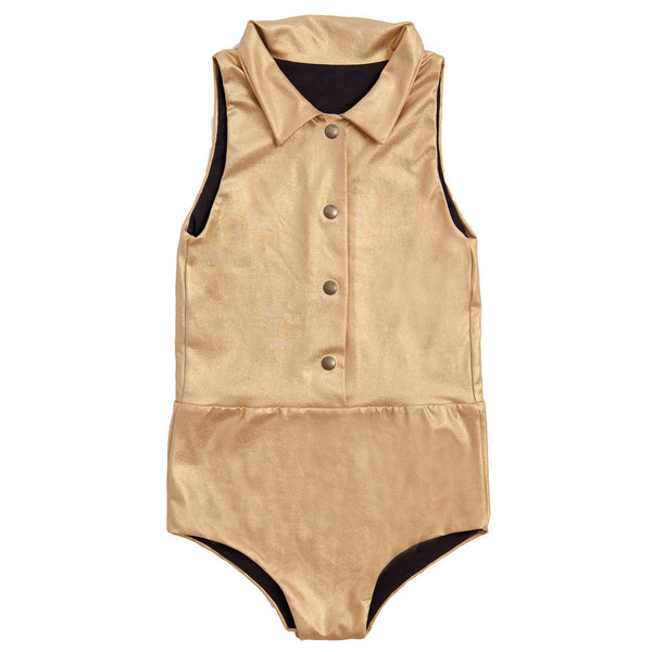 Explorer Bathing Suit, Gold