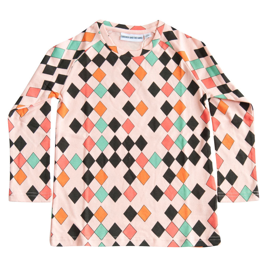 Long Sleeved T-shirt Harlequin, Pink